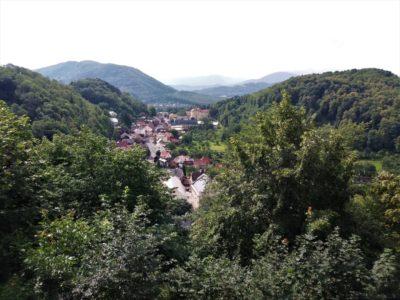 Štramberk - výhled z rozhledny Trůba