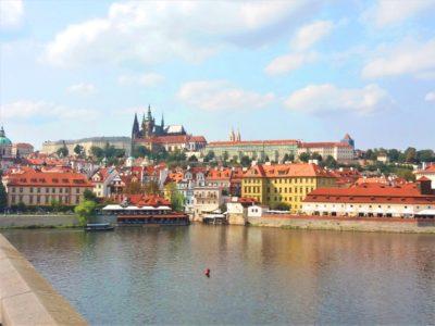 Pohled na Pražský hrad a katedrálu sv. Víta