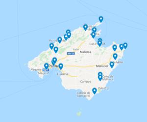 Mallorca interaktivní mapa