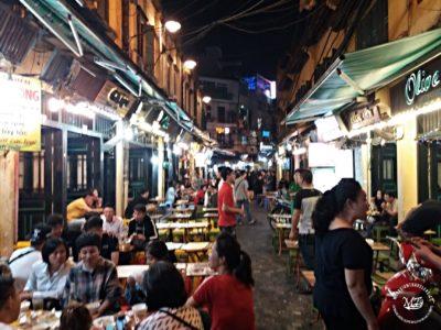 Severní Vietnam - Hanoj - Pivní ulice