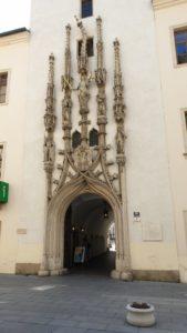 Křivá věžička Staré radnice Brno