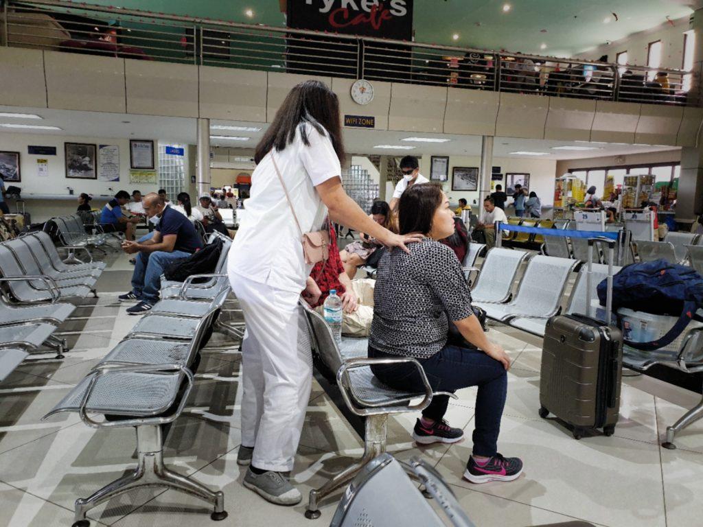 Masáže na letišti