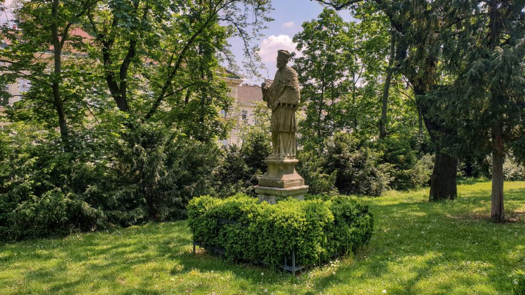 Brno, park Špilberk - socha sv. Jan Nepomucký