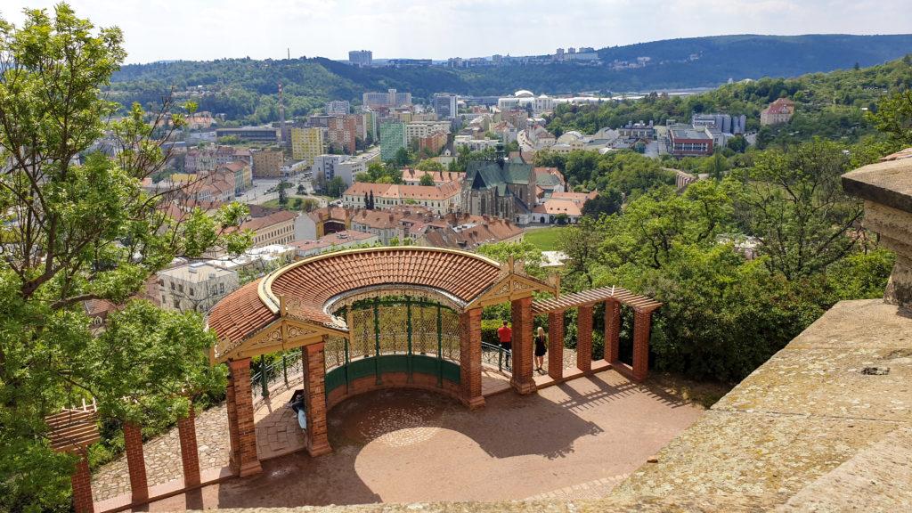 Brno, park Špilberk - Jižní vyhlídkový pavilon