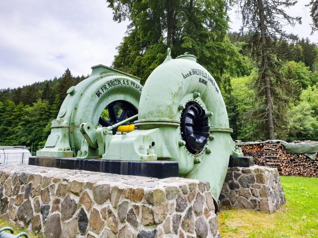 Vodní elektrárna Spálov - turbíny