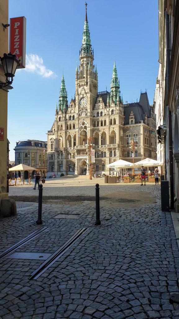 Liberec radnice a zbytek kolejí