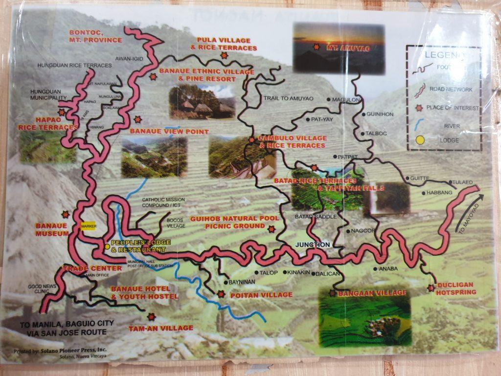 Banaue - mapa