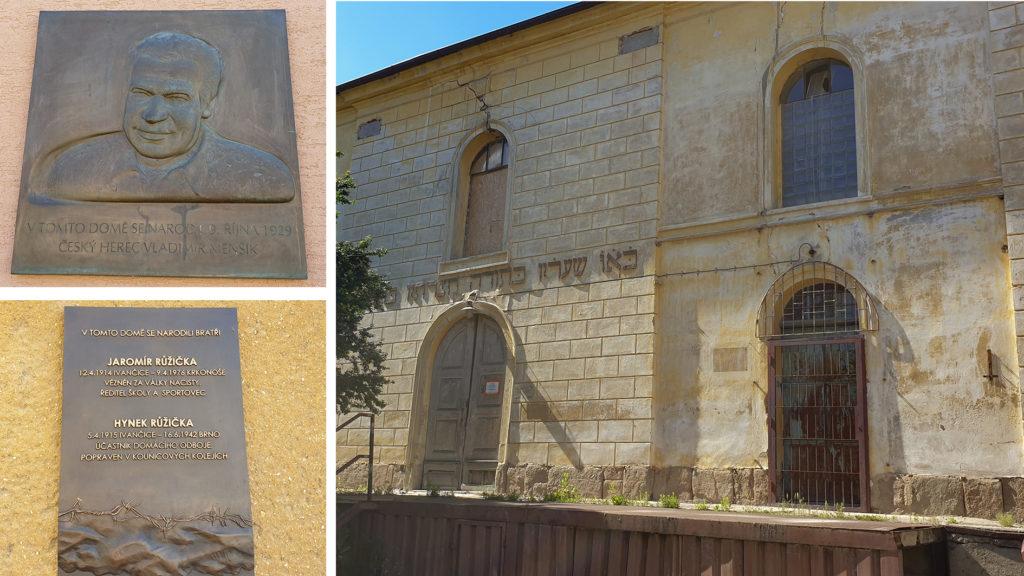 Ivančice - synagoga a pamětní desky