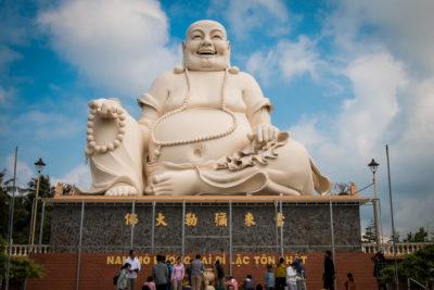 Vinh Trang Temple - sedící buddha