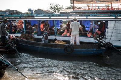Plovoucí trh v déltě Mekongu