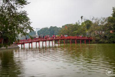 Severní Vietnam - Hanoj - Most Cầu Thê Húc