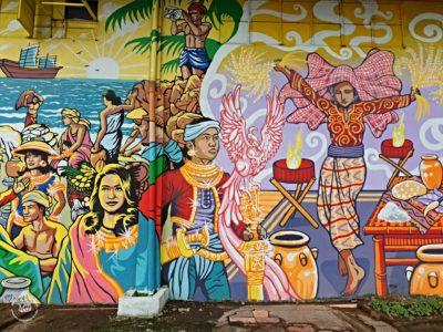 Tradiční filipínské malby v Rizal parku