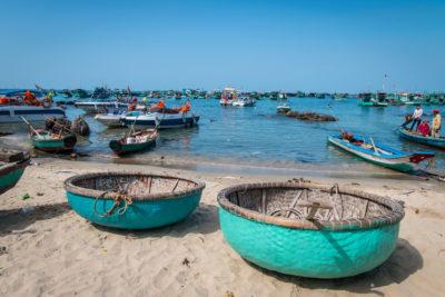Jižní Vietnam, An Thòi - kulatá plavidla