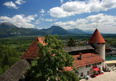 Slovinsko - Hrad Bled