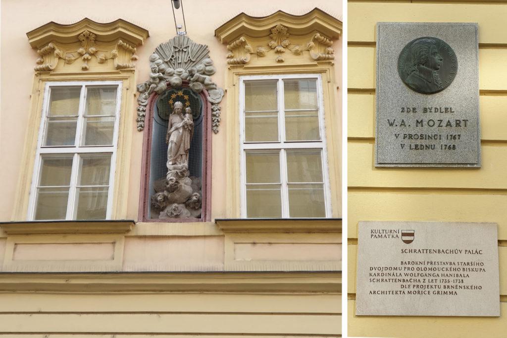 Schrattenbachův palác - Mozart a madona