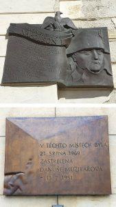Moravské náměstí - pamětní desky