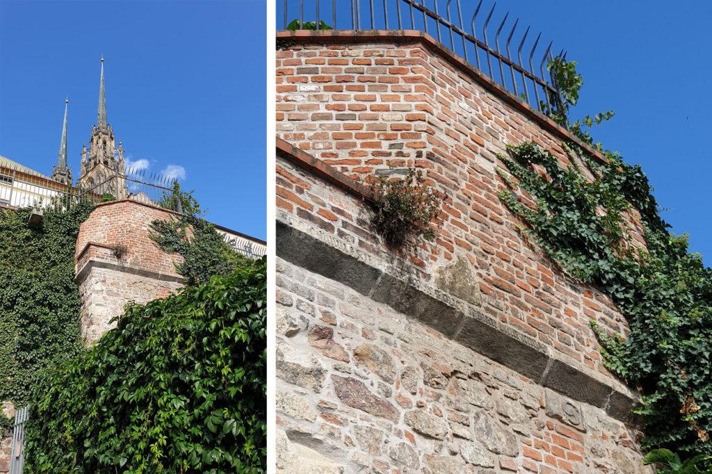 Fragmenty hradeb -Židovská brána, Brno