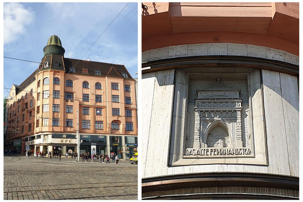 Reliéf Židovské brány - Brno